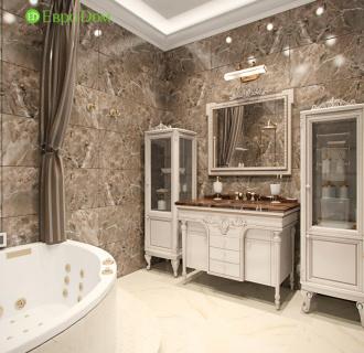 Дизайн четырехкомнатной квартиры 183 кв. м в стиле классицизм. Фото проекта