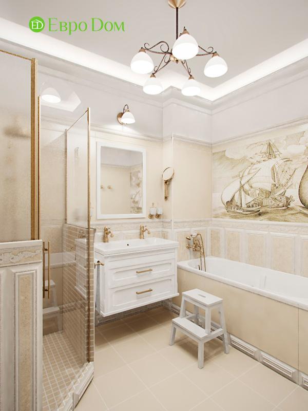 Дизайн 4-комнатной квартиры в стиле классицизм. Фото 04