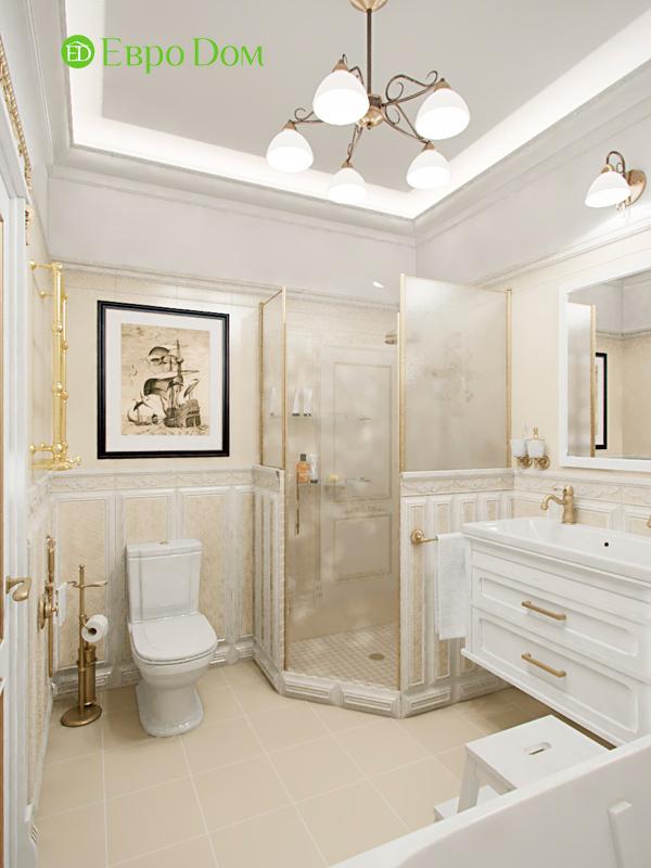 Дизайн 4-комнатной квартиры в стиле классицизм. Фото 05