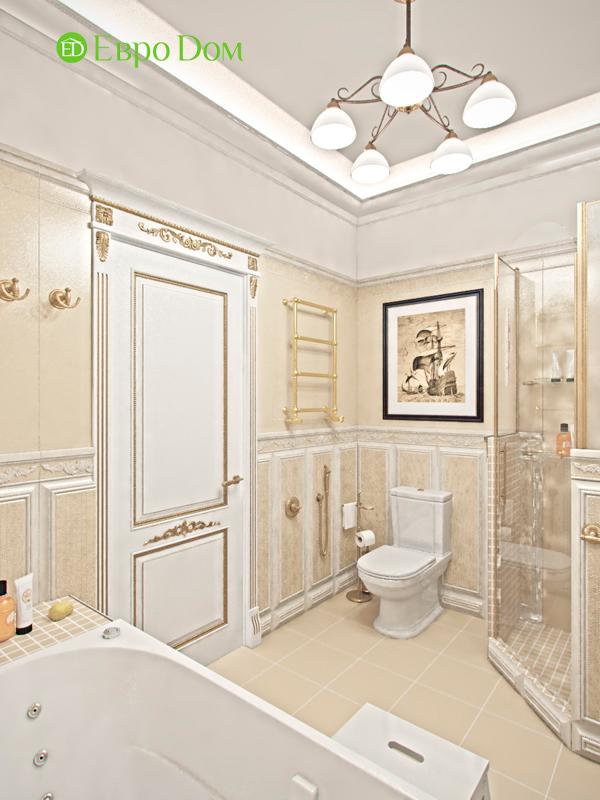 Дизайн 4-комнатной квартиры в стиле классицизм. Фото 06