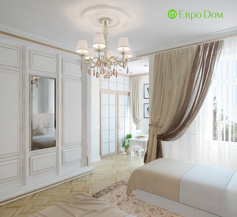 Дизайн 4-комнатной квартиры в стиле классицизм. Фото 07