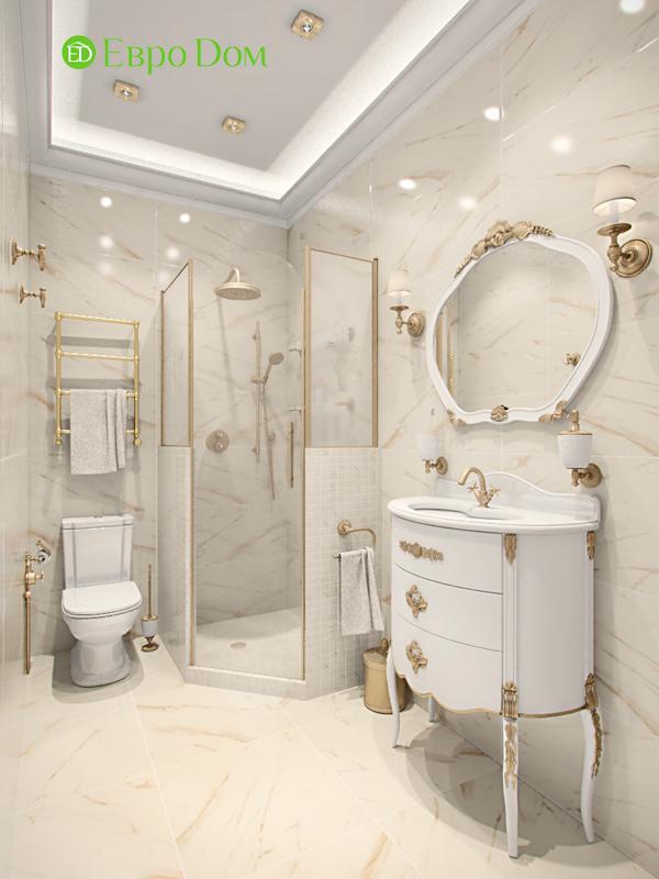 Дизайн 4-комнатной квартиры в стиле классицизм. Фото 011