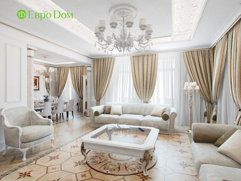 На фото: Интерьер гостиной в светлых тонах