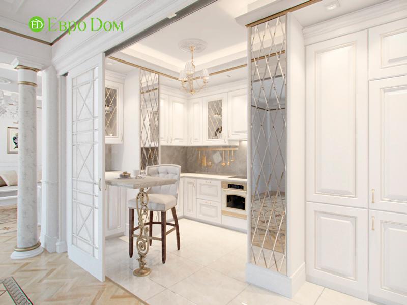 Дизайн 4-комнатной квартиры в стиле классицизм. Фото 021