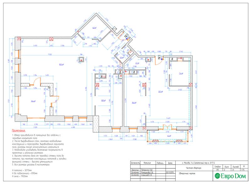 Дизайн 4-комнатной квартиры в стиле классицизм. Фото 030