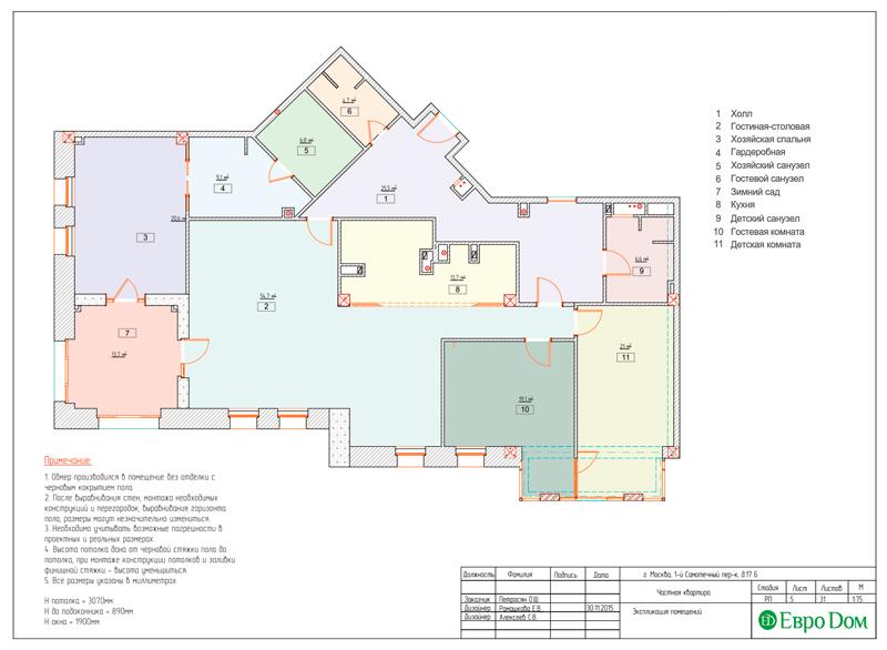 Дизайн 4-комнатной квартиры в стиле классицизм. Фото 033