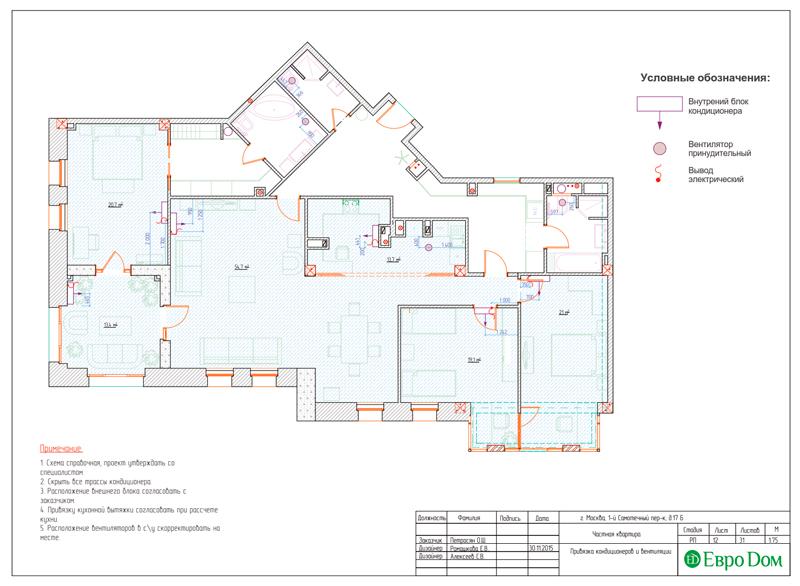 Дизайн 4-комнатной квартиры в стиле классицизм. Фото 040