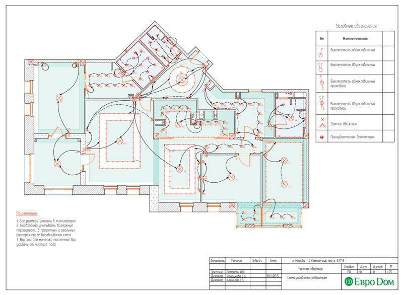 Дизайн 4-комнатной квартиры в стиле классицизм. Фото 046