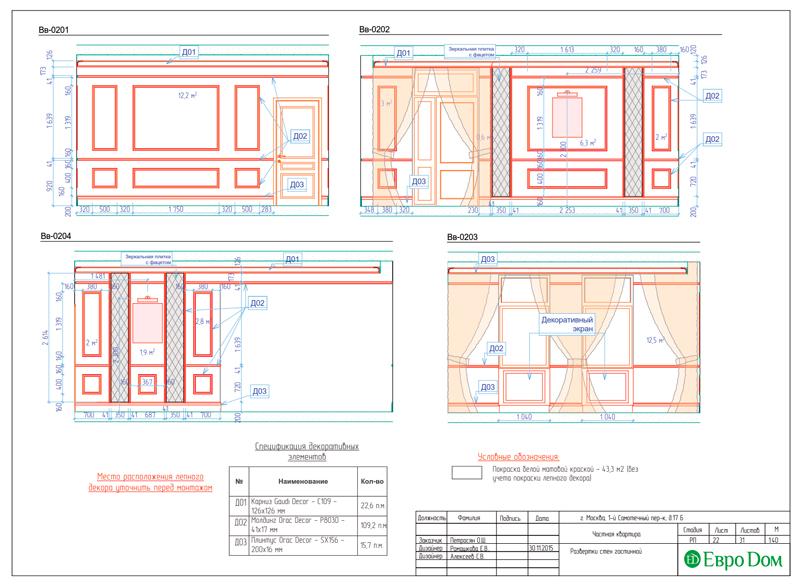 Дизайн 4-комнатной квартиры в стиле классицизм. Фото 050