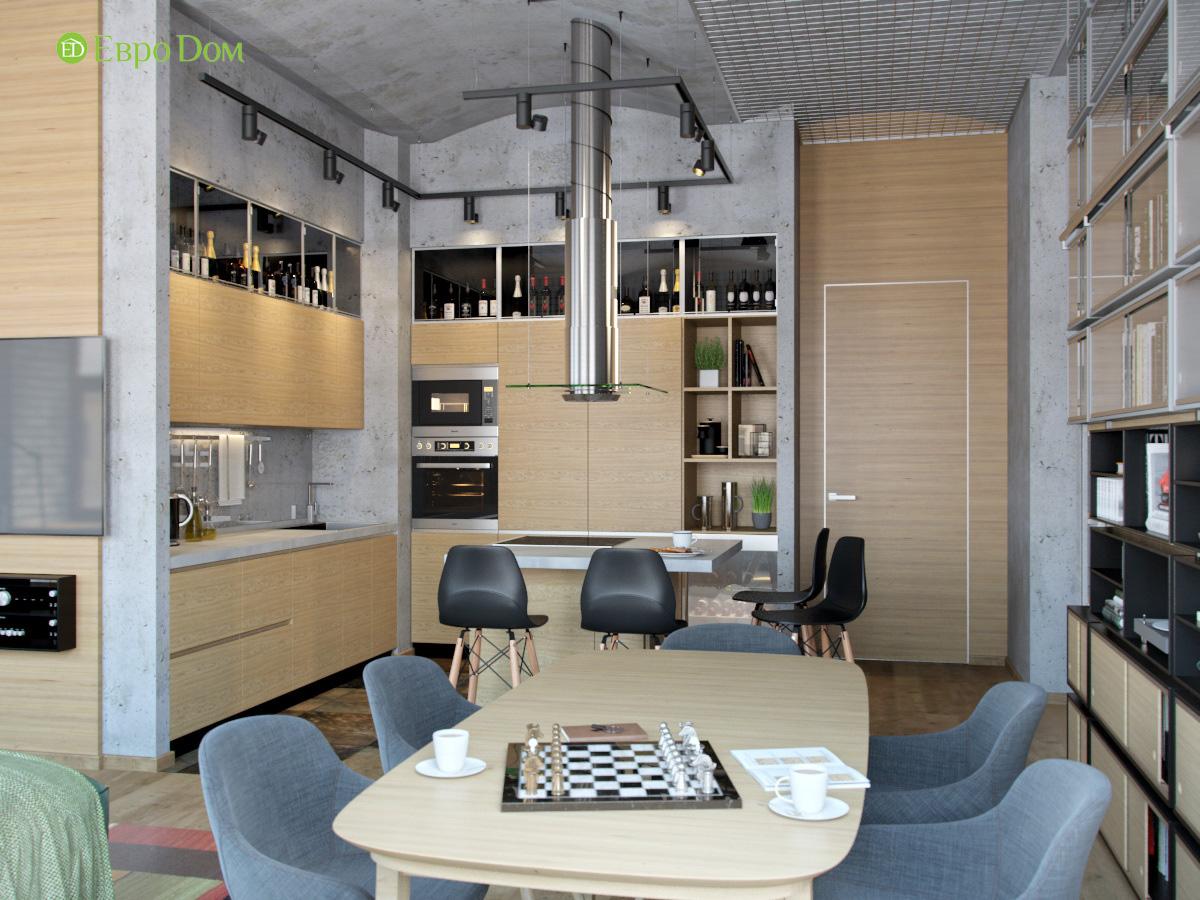 Дизайн 4-комнатной квартиры в стиле лофт. Фото 02
