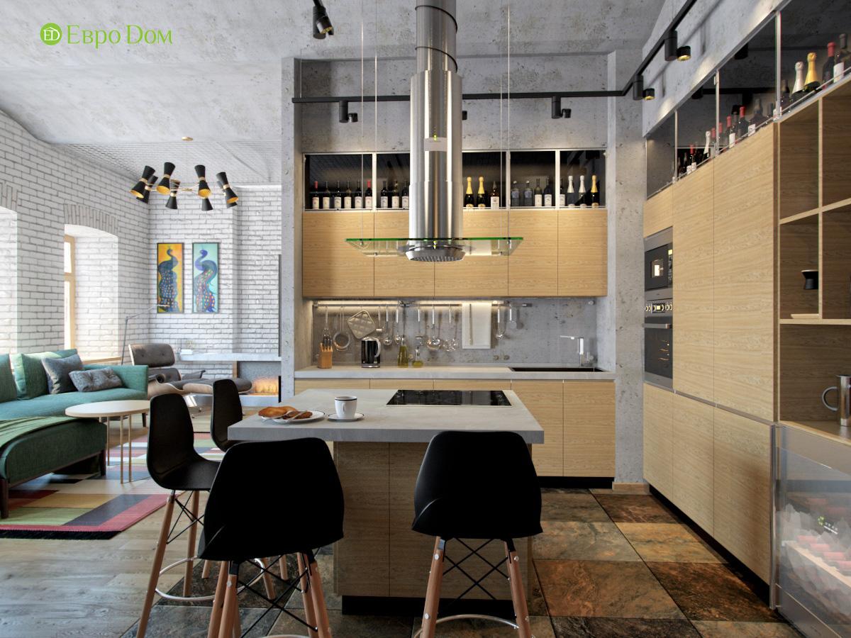Дизайн 4-комнатной квартиры в стиле лофт. Фото 011