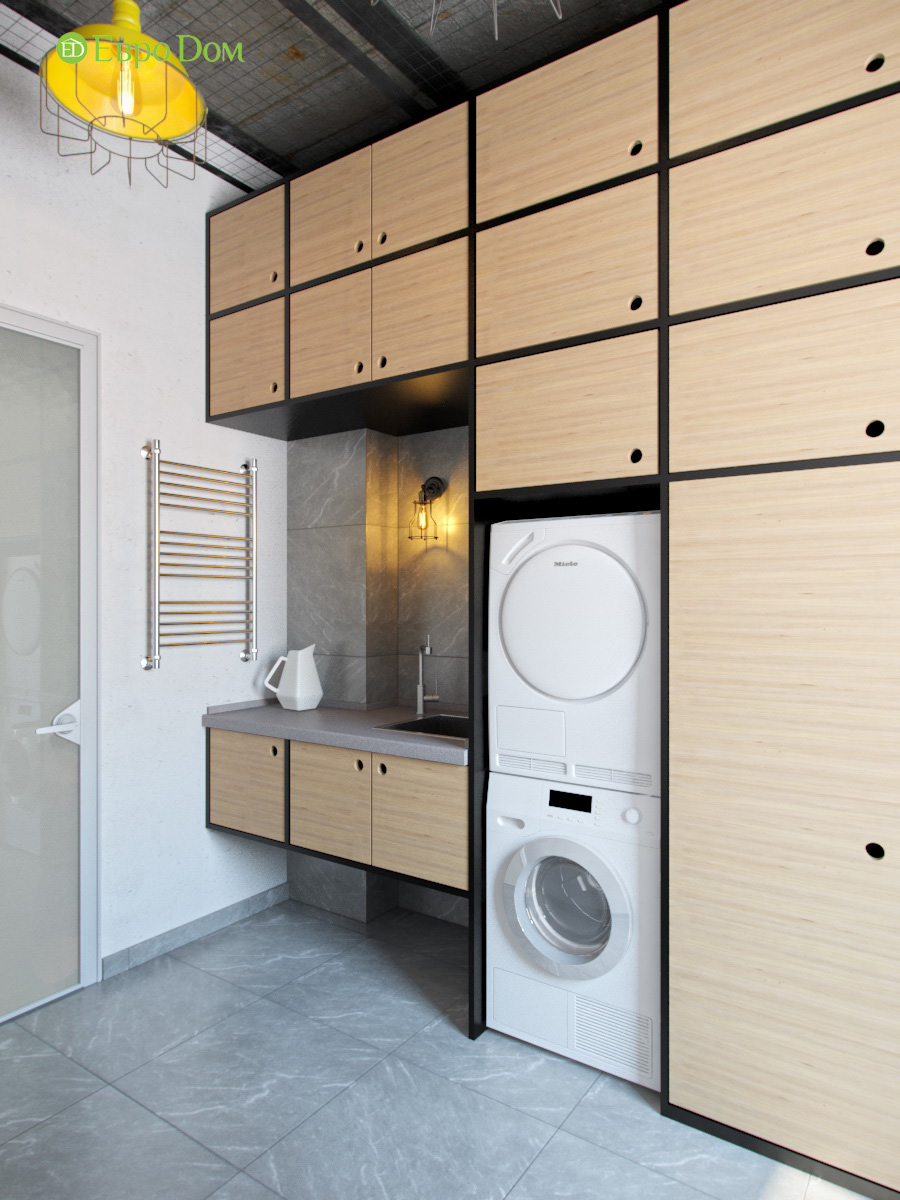 Дизайн 4-комнатной квартиры в стиле лофт. Фото 012