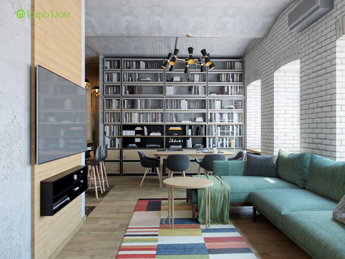 Дизайн 4-комнатной квартиры в стиле лофт. Фото 023