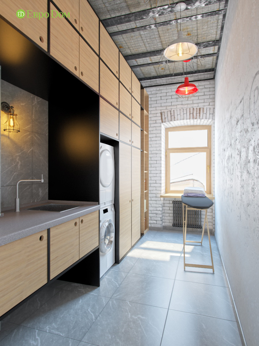 Дизайн 4-комнатной квартиры в стиле лофт. Фото 025
