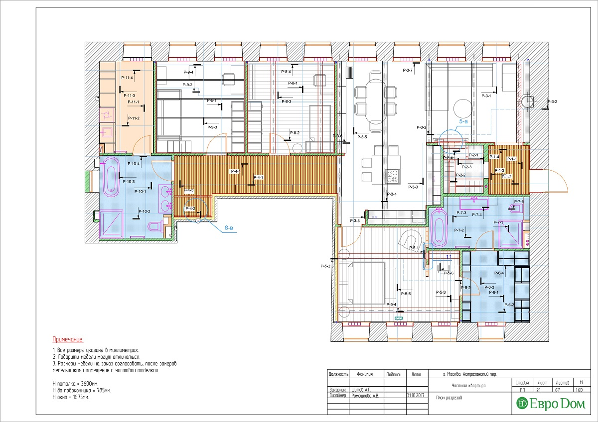 Дизайн 4-комнатной квартиры в стиле лофт. Фото 047