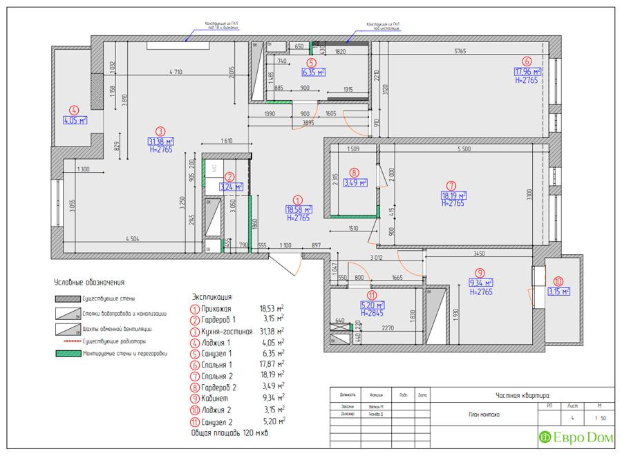 Дизайн 4-комнатной квартиры (120 кв. м) в стиле лофт. Фото 016