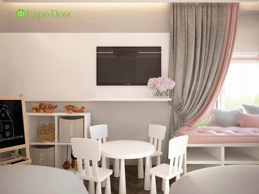 Дизайн интерьера 4-комнатной квартиры в стиле неоклассика. Фото 04
