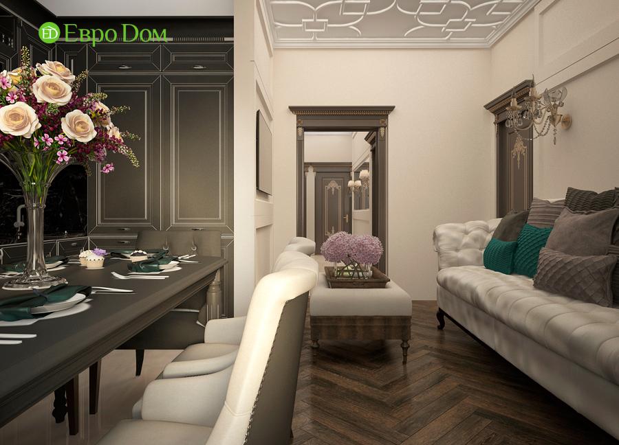 Дизайн интерьера 4-комнатной квартиры в стиле неоклассика. Фото 07