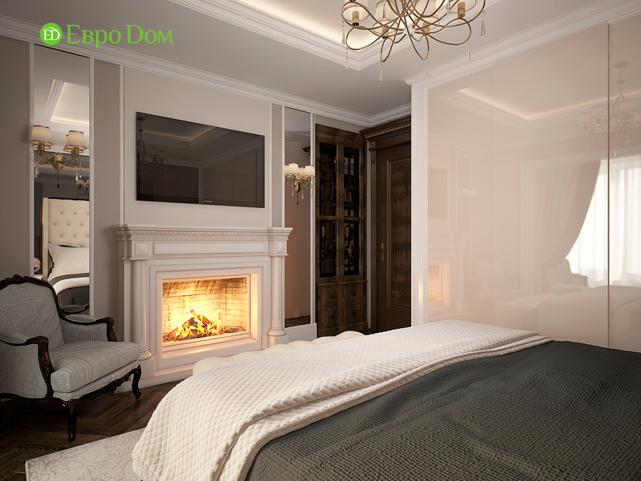 Дизайн интерьера 4-комнатной квартиры в стиле неоклассика. Фото 017