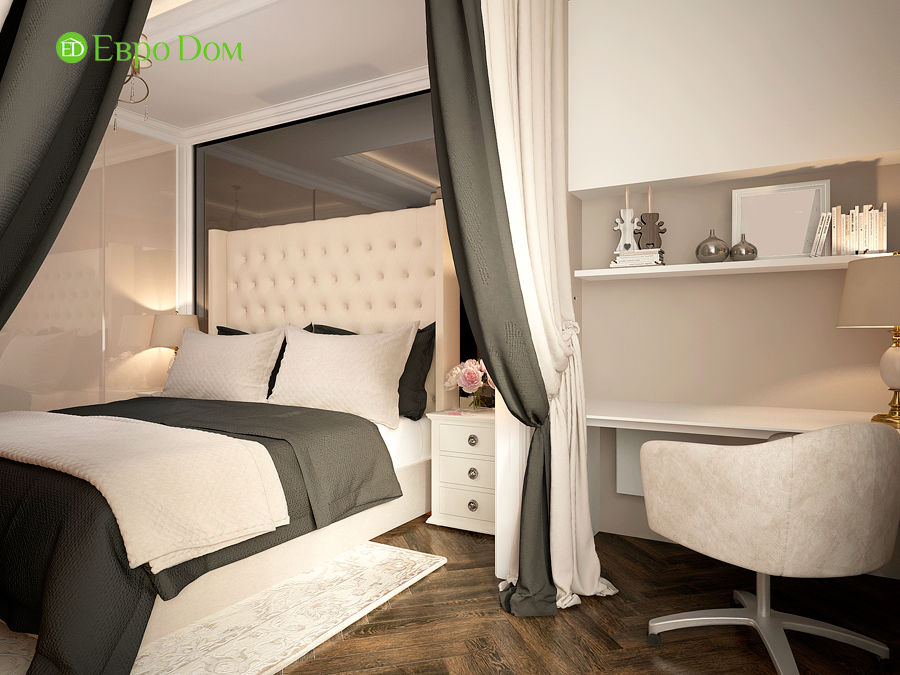 Дизайн интерьера 4-комнатной квартиры в стиле неоклассика. Фото 020