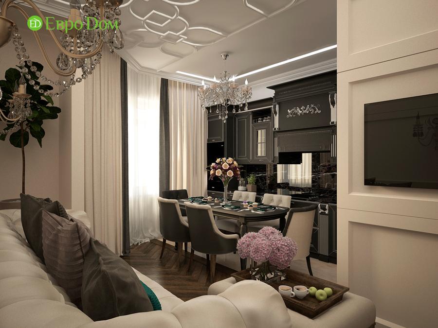 Дизайн интерьера 4-комнатной квартиры в стиле неоклассика. Фото 023