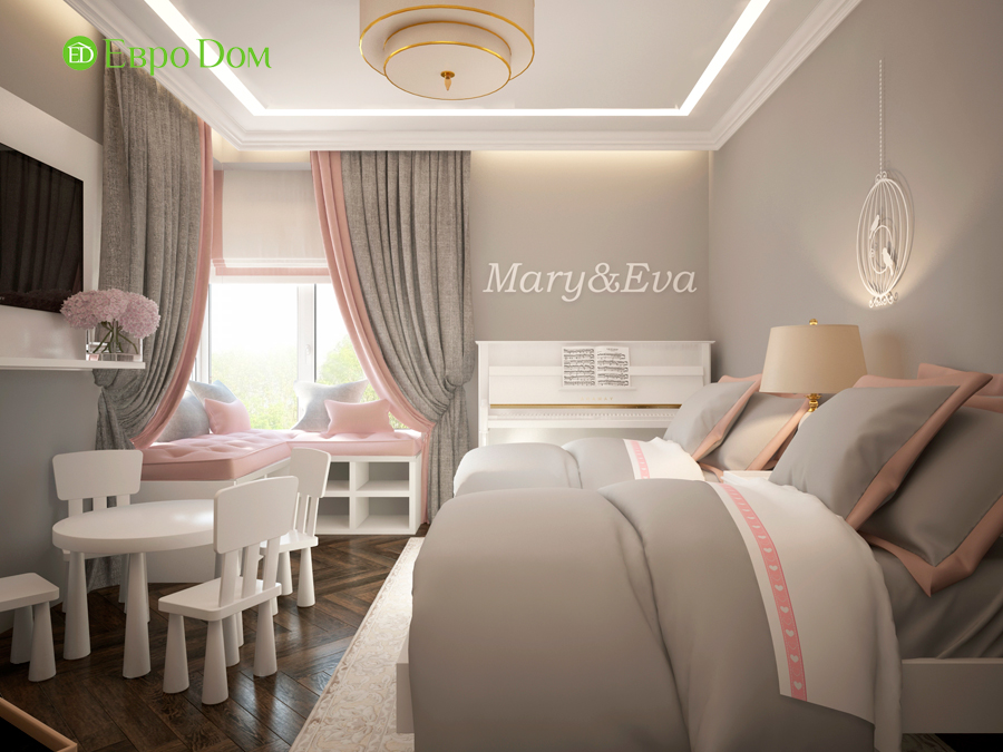 Дизайн интерьера 4-комнатной квартиры в стиле неоклассика. Фото 024