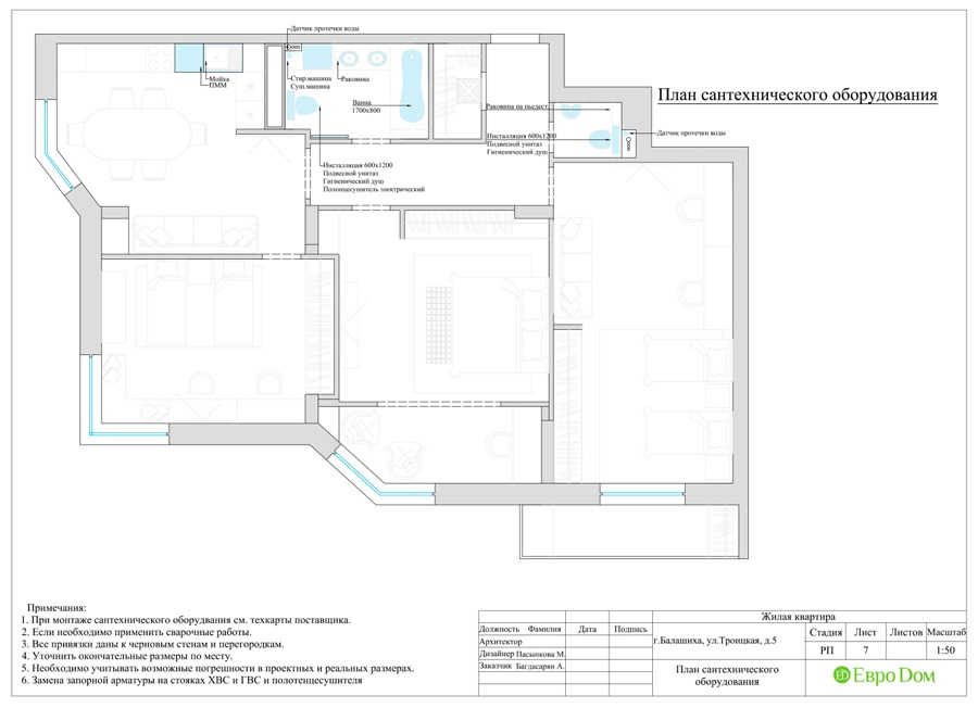 Дизайн интерьера 4-комнатной квартиры в стиле неоклассика. Фото 031