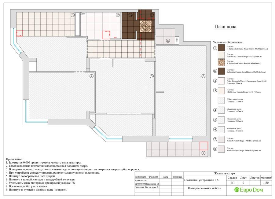 Дизайн интерьера 4-комнатной квартиры в стиле неоклассика. Фото 033