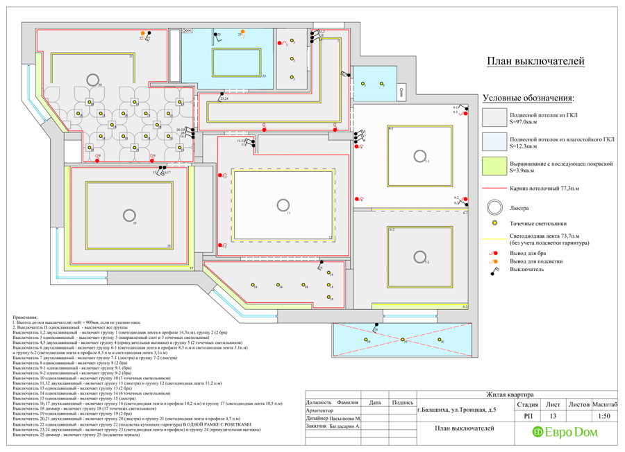 Дизайн интерьера 4-комнатной квартиры в стиле неоклассика. Фото 037