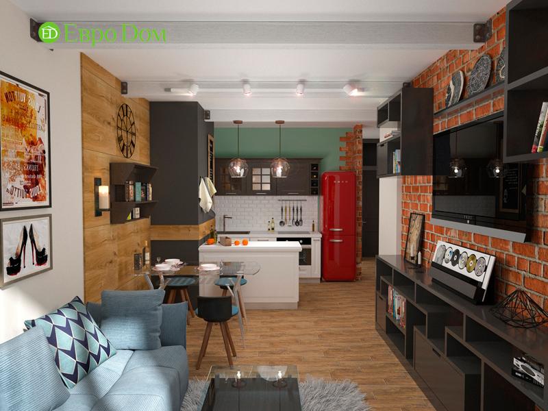 Дизайн 2-комнатной квартиры 84 кв. м в стиле лофт. Фото 03