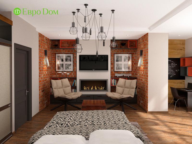 Дизайн 2-комнатной квартиры 84 кв. м в стиле лофт. Фото 06