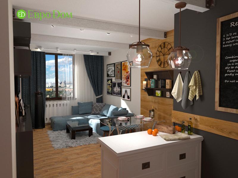 Дизайн 2-комнатной квартиры 84 кв. м в стиле лофт. Фото 07