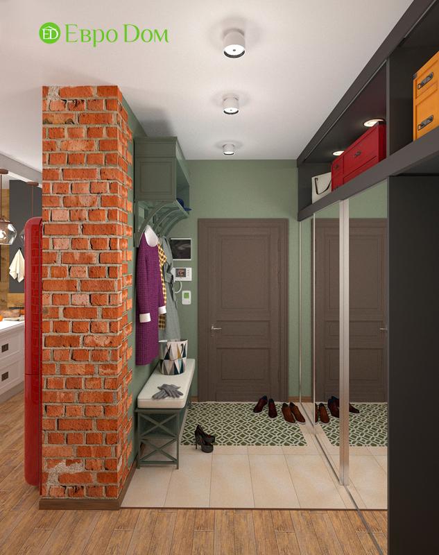 Дизайн 2-комнатной квартиры 84 кв. м в стиле лофт. Фото 010