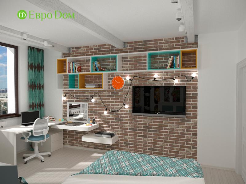 Дизайн 2-комнатной квартиры 84 кв. м в стиле лофт. Фото 011