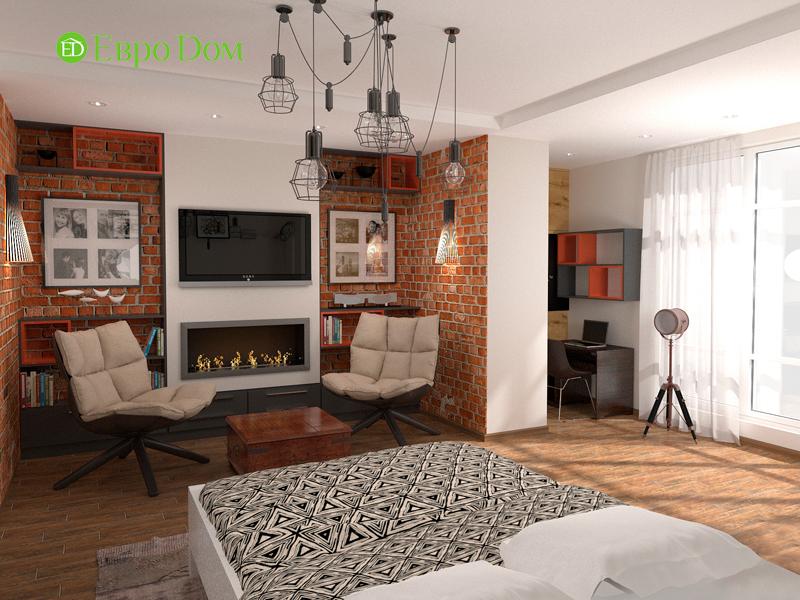 Дизайн 2-комнатной квартиры 84 кв. м в стиле лофт. Фото 012
