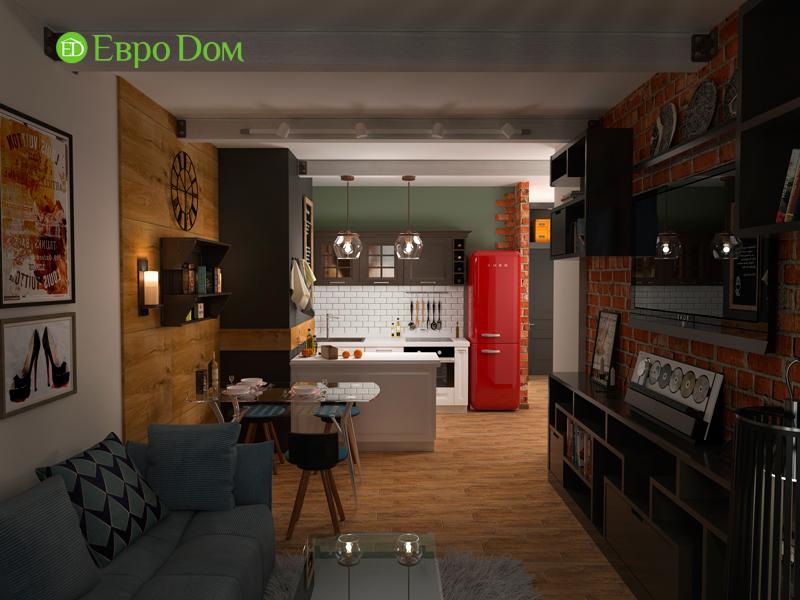 Дизайн 2-комнатной квартиры 84 кв. м в стиле лофт. Фото 016