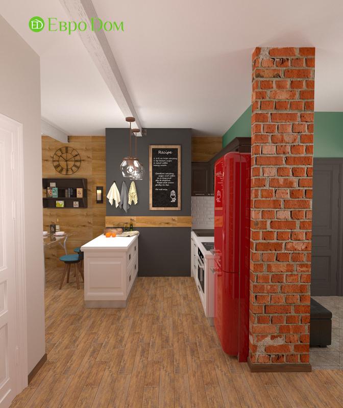 Дизайн 2-комнатной квартиры 84 кв. м в стиле лофт. Фото 017