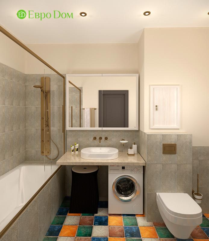 Дизайн 2-комнатной квартиры 84 кв. м в стиле лофт. Фото 018