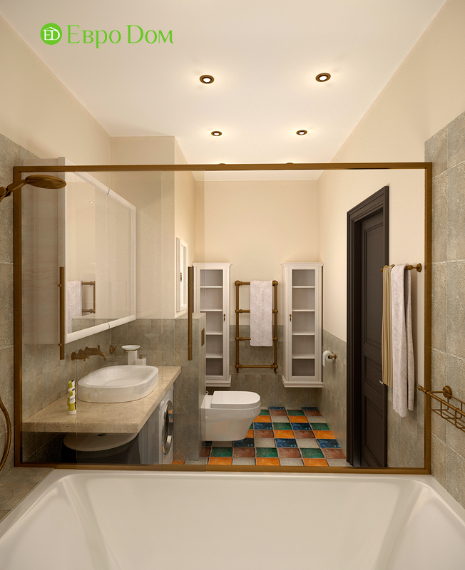 Дизайн 2-комнатной квартиры 84 кв. м в стиле лофт. Фото 019