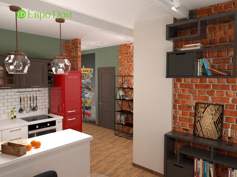 Дизайн 2-комнатной квартиры 84 кв. м в стиле лофт. Фото 021