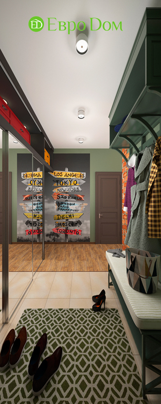Дизайн 2-комнатной квартиры 84 кв. м в стиле лофт. Фото 022