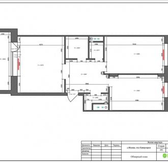 Дизайн двухкомнатной квартиры 84 кв. м в стиле лофт. Фото проекта