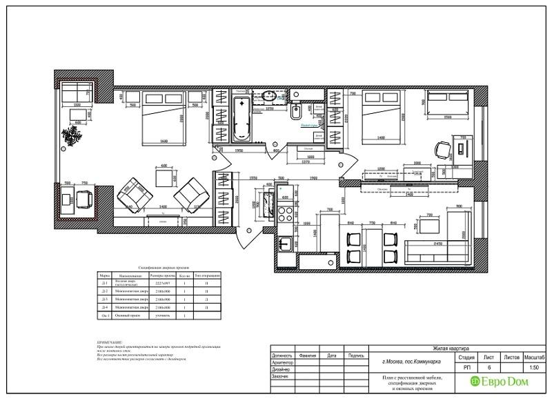Дизайн 2-комнатной квартиры 84 кв. м в стиле лофт. Фото 028