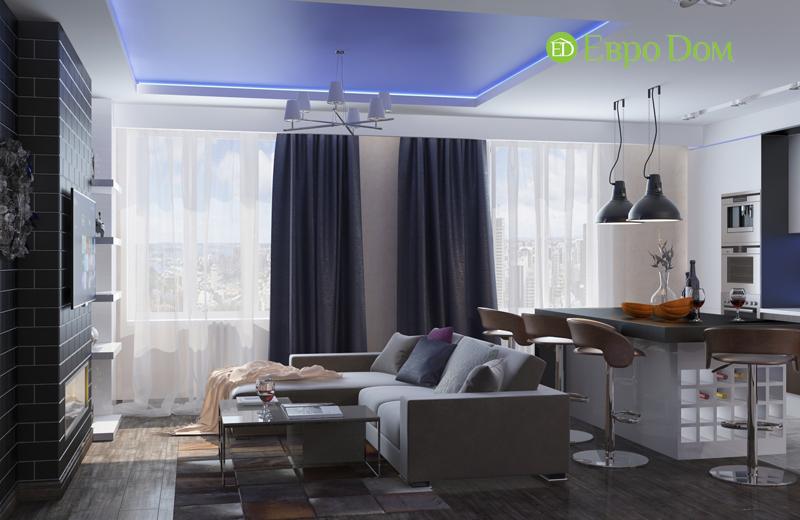 Дизайн 2-комнатной квартиры в классическом стиле. Фото 03