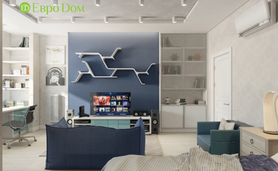 На фото: дизайн двухкомнатной квартиры в стиле прованс