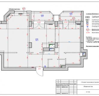Дизайн двузкомнатной квартиры 97 кв. м в стиле прованс. Фото проекта
