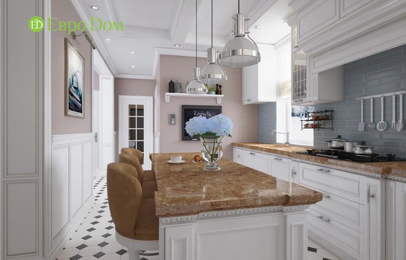 Кухня в англо-американском стиле в доме