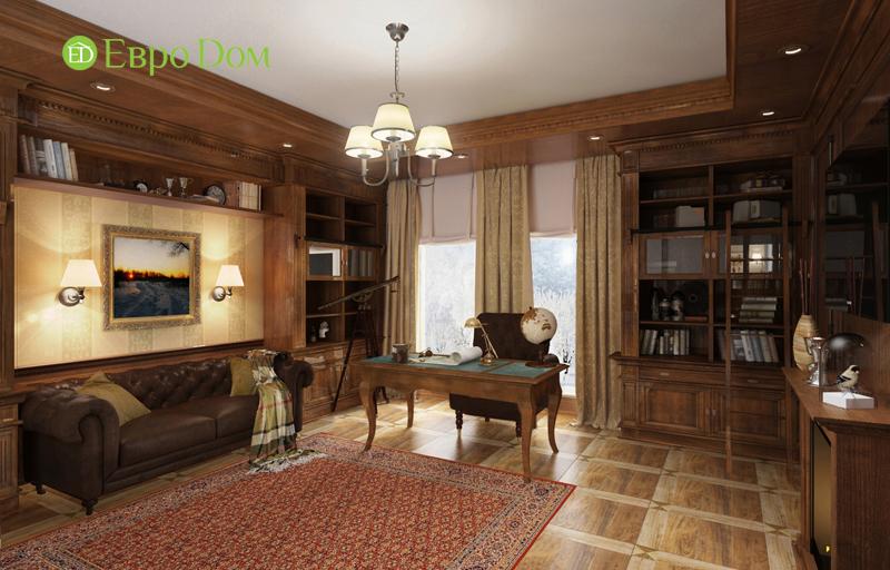 Дизайн интерьера коттеджа 393 кв. м в английском стиле. Фото 09