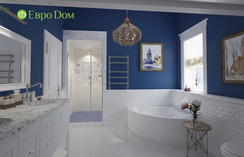 Дизайн интерьера коттеджа 393 кв. м в английском стиле. Фото 010