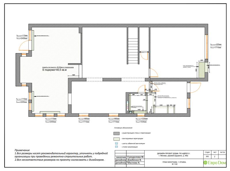 Дизайн интерьера коттеджа 393 кв. м в английском стиле. Фото 025